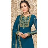 stylddm149-2999 Blue color Exclusive Georgette Embroidered suit
