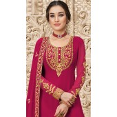 stylddm149-3000 Magenta color Exclusive Georgette Embroidered suit