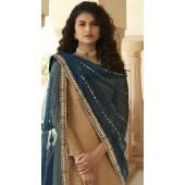 stylddm152-3015 Beige color Semi Stitched Exclusive Designer Partywear Salwar Suit