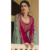 stylddm152-3016 Magenta color Semi Stitched Exclusive Designer Partywear Salwar Suit