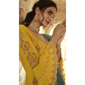 stylddm152-3019 Yellow color Semi Stitched Exclusive Designer Partywear Salwar Suit