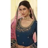 stylddm152-3020 Navy Blue color Semi Stitched Exclusive Designer Partywear Salwar Suit