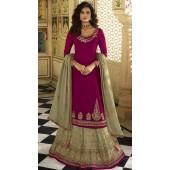stylddm152-3022 Magenta color Semi Stitched Exclusive Designer Partywear Salwar Suit